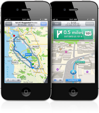 Apple's Maps new features turn-by-turn navigation