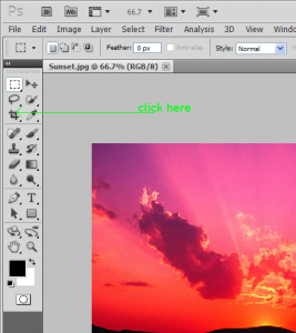 how to crop the image
