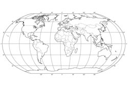 Blank map of the World map