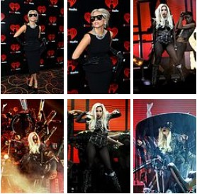 Lady Gaga performs at iheartrodio music fistival sexy pic