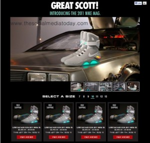 Buy Nike Air Mag or Marty McFly shoes