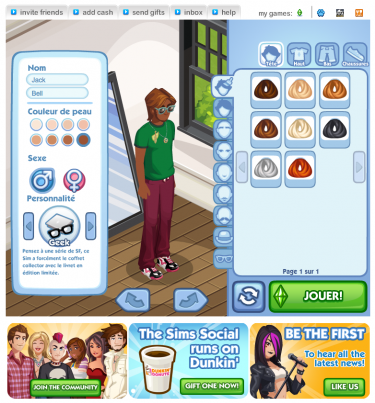 play Sim Social Facebook Game