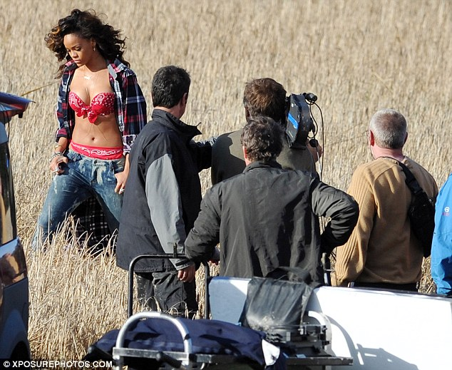 Country girl: Riri gets down to business in Ireland