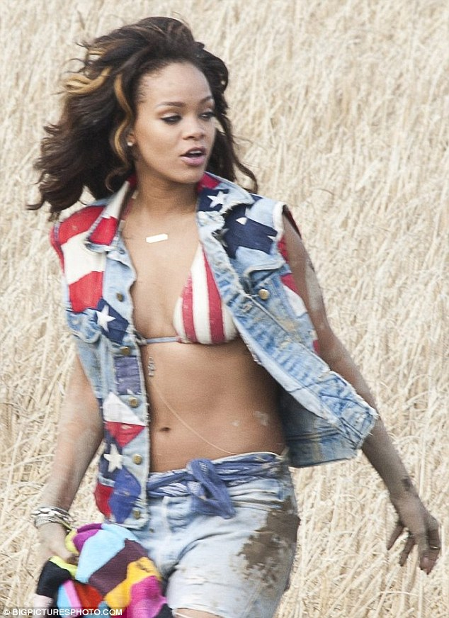 American woman: A dirty looking Rihanna gets put through her paces