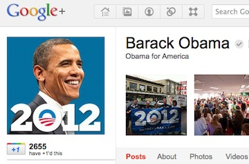 Barack Obama Joins Google+