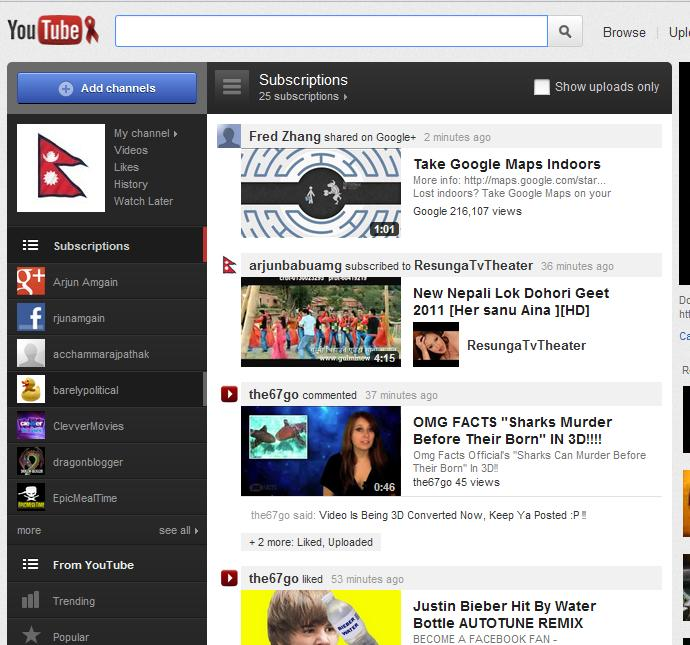 YouTube New Out Look