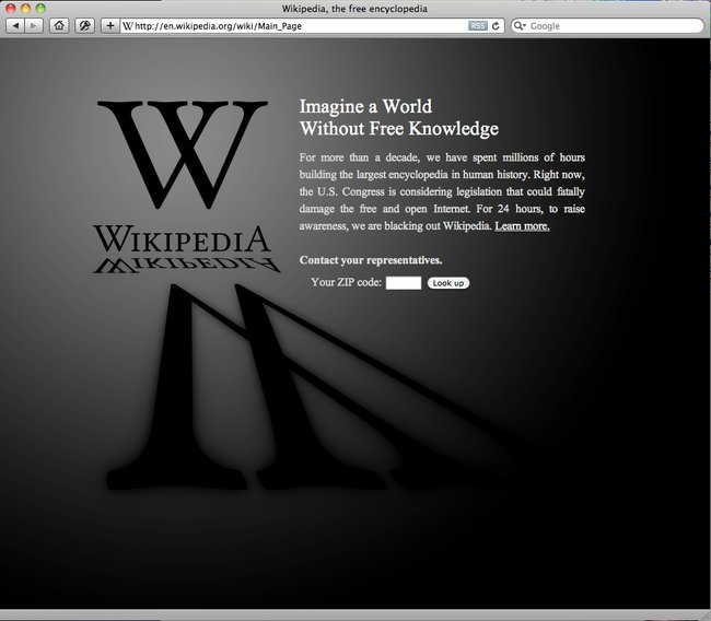 Wikipedia Blackout Lets In Some Light