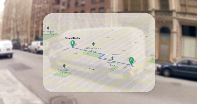 Google Maps Project Glass
