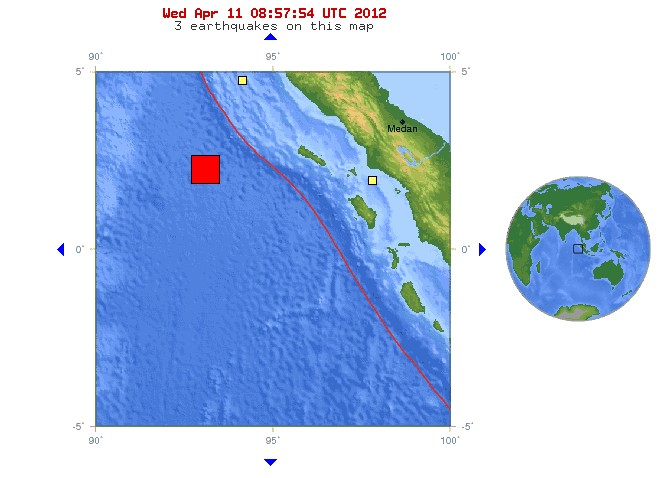 M8.7 - off the west coast of northern Sumatra