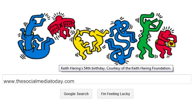 Google Doodle Celebrates Keith Haring's Birthday youtube