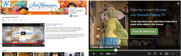 YouTube announces paid subscriptions with TV show partners.