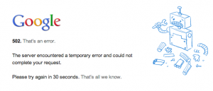 gmail outage problems