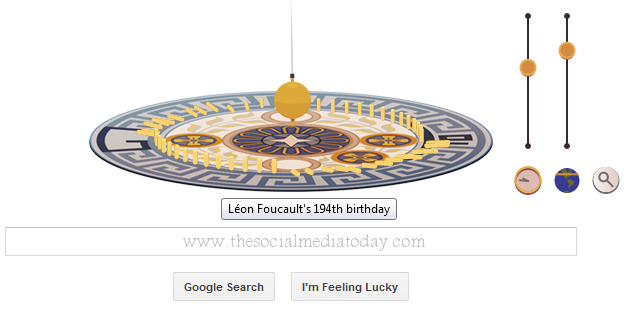 Léon Foucault's pendulum doubles as the Google doodle on his 194th birthday.