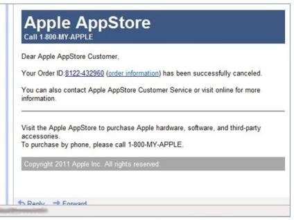 Apple Scam Tactic screenshot