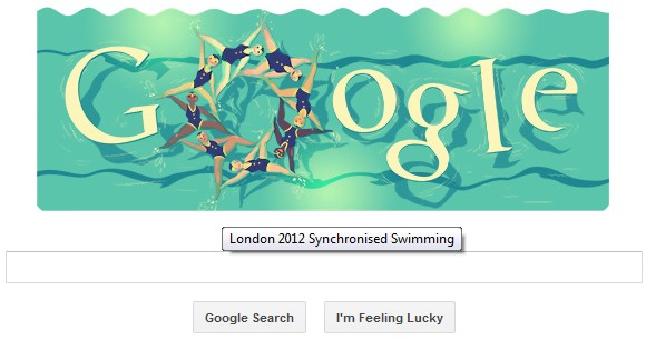 London 2012 Synchronised Swimming - Google Doodle HD Video