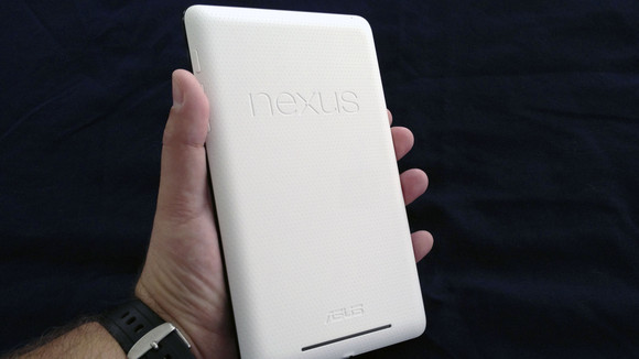 Nexus 7 back held in hand