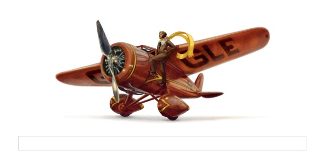 Amelia Earhart's 115th birthday Google doodle