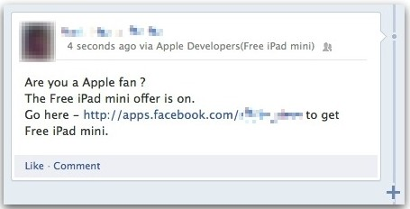 Free iPad Mini scam