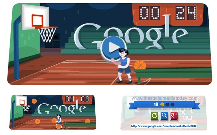 """London 2012 basketball"" Google Doodle download"