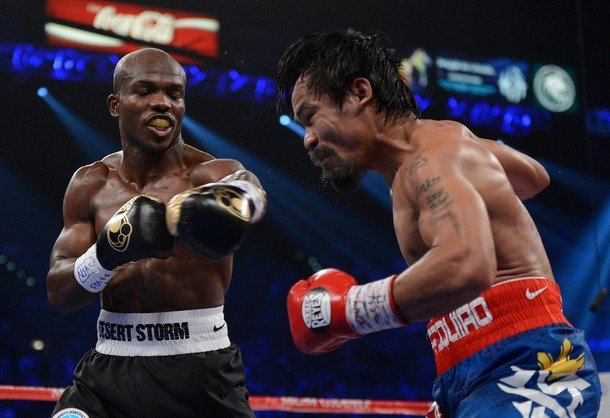 Timothy Bradley wins on Manny Pacquiao.
